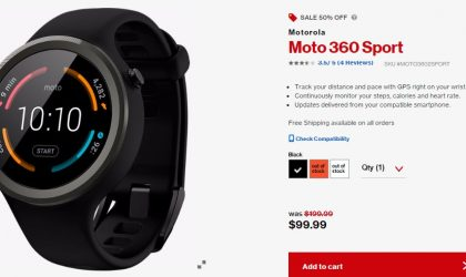 [Hot Deal] Moto 360 Sport on sale for $99 only from Verizon