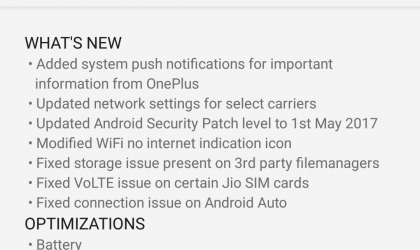 OnePlus 3 and OnePlus 3T receiving OTA update to OxygenOS 4.1.6