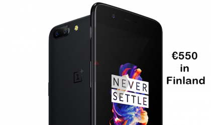 OnePlus 5 could be priced €550 in Finland