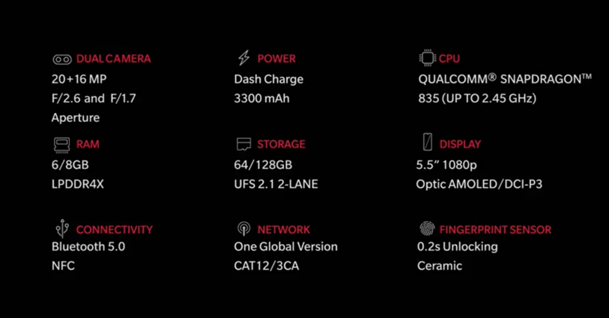 oneplus-5-official-specifications