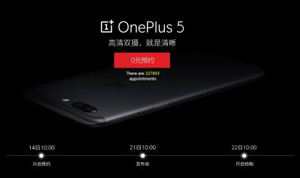 OnePlus 5 registration reaches over 300,000 within 48 hours