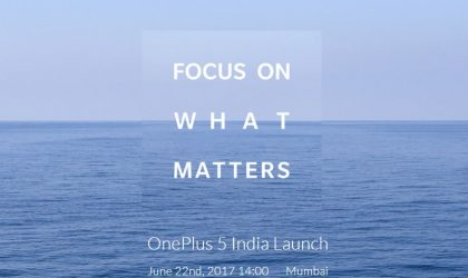 OnePlus 5 India launch event scheduled for June 22 in Mumbai