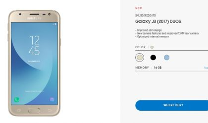 Samsung launches Galaxy J3 (2017) Duos in Germany