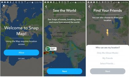 Now view your Snapchat friends in real time with the new Snap Map feature