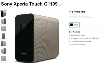 Interactive projector from Sony, Xperia Touch now available for £1,299.99 in Europe