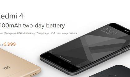 Xiaomi Redmi 4 on sale in India today at mi.com