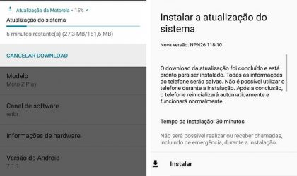 Moto Z Play receives another Android 7.1.1 update under the soak test