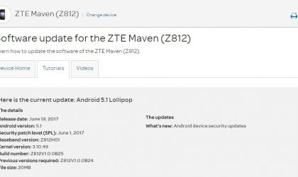 ZTE Maven receiving update with June security patch