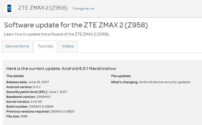 zte software update download