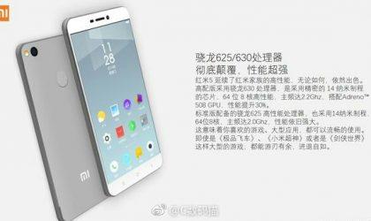 Xiaomi Redmi 5 specs leak hints at 5.0″ display, MIUI 9, SD625/630 chip, 3GB/4GB RAM and 3680mAh battery