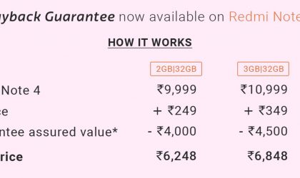 Flipkart offering Buyback Guarantee on Redmi Note 4 with July 14 sale