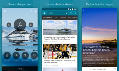 Update to Bing Search Android app lets you save images and open new tabs with long press
