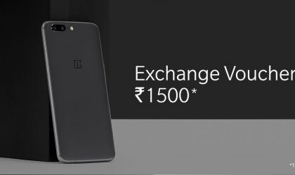 OnePlus 5 India deal: Get INR 1,500 voucher from Official store under exchange program