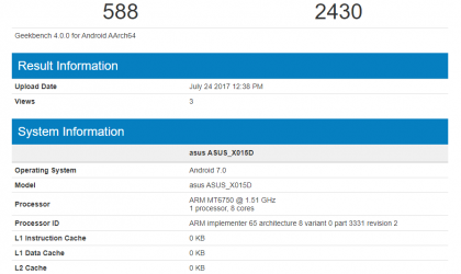 Asus ZenFone Go 2 spotted on Geekbench
