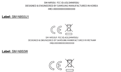 Samsung Galaxy Note 8 prepares for release, clears FCC