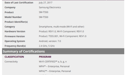 Galaxy Tab A 9.7 to soon get Android 7.0 Nougat update
