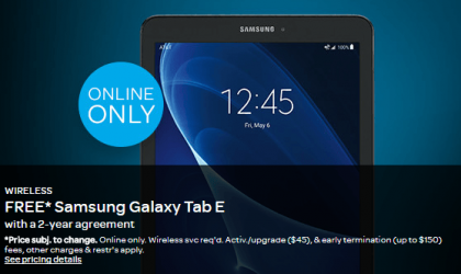 Galaxy Tab E Deal: Get it for free through AT&T with a 2-year contract