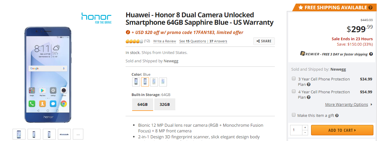 Honor8_neweggdeal