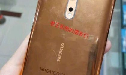 A new real-life image shows Nokia 8 in Gold-Copper color