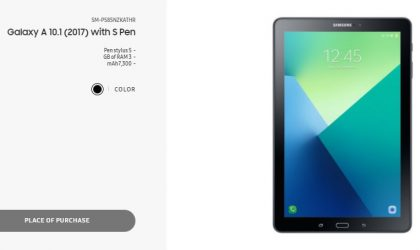 Galaxy Tab A 10.1 (2017) with S Pen launched in Iran with 3GB RAM and 7,300mAh battery