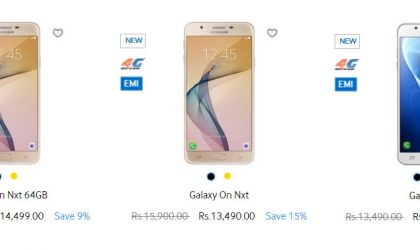 Samsung Deals: Get On and J series devices at up to 15% discount from Samsung Shop India
