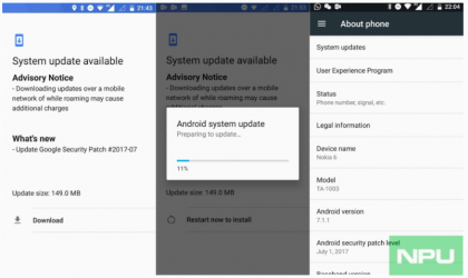 Nokia 6 update rolling out with July security patch