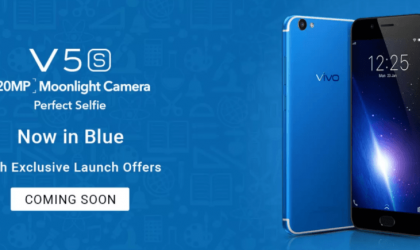 Vivo V5S in Blue color to launch soon in India
