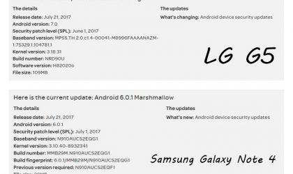 AT&T releases updates for LG G5 (June patch), Note 4, Note Edge and Express Prime (July patch)