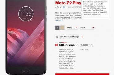 Verizon Moto Z2 Play