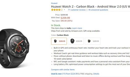 Huawei Watch 2 Deal: Get it for 30% off right now under Amazon Prime day sale