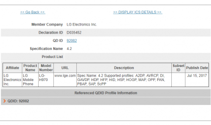 LG V30 (H970) gets certified by Bluetooth SIG