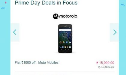 Moto G5 Plus Deal: Save INR 1000 on Amazon Prime day sale