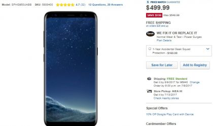 Galaxy S8 Deal: Boost Mobile variant going for $500 at Best Buy