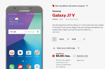 verizon j7 v deal