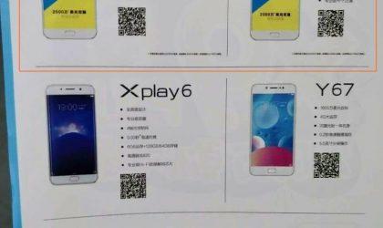 Vivo X9s and X9s Plus specs leak reveals Snapdragon 652 and 653 processor
