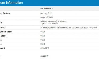 ZTE Nubia Z17 Lite specs revealed, Snapdragon 617 processor and 6GB RAM inside