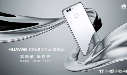 Huawei Nova 2 Plus Silver Edition to go on pre-order in China on August 3