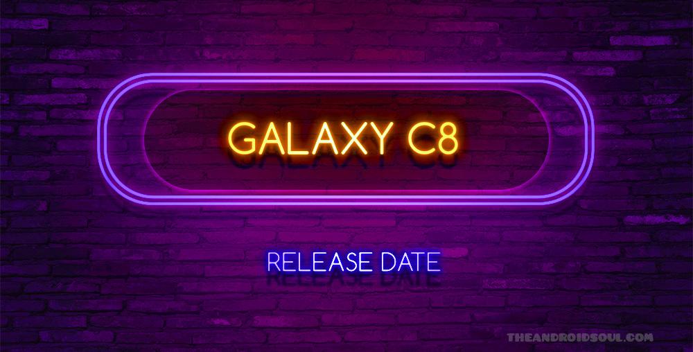 Galaxy C8 release date