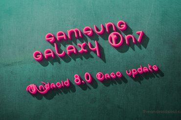 Galaxy On7 Oreo update