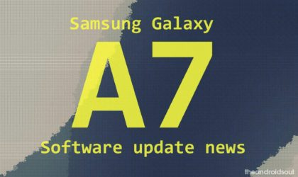 Galaxy A7 Pie update: Android 9 for 2018 edition arrives in India