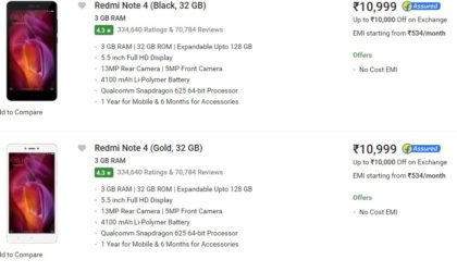 Redmi Note 4 available on open sale for 72 hours on Flipkart