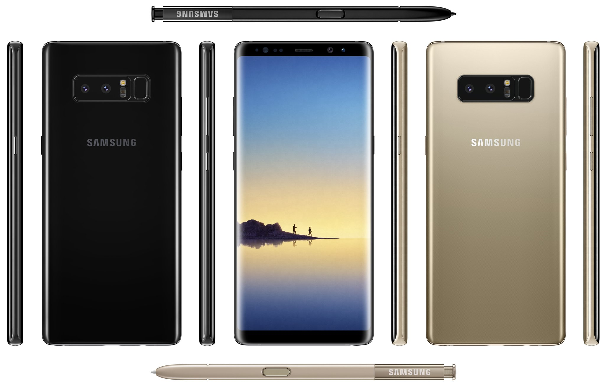 galaxy note 8 all sides