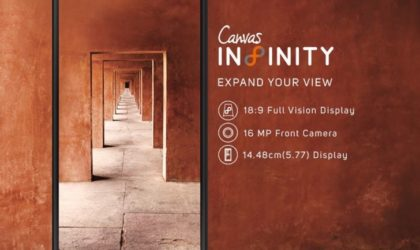 Micromax Canvas Infinity with 5.7-inch Full Vision display goes official