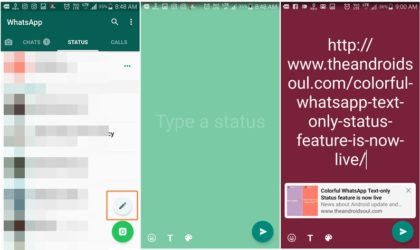WhatsApp now lets you add links in Status [How to]