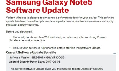 Verizon releases August security patch for the Galaxy Note 5, S6, S6 Edge and S6 Edge+