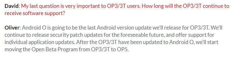 Android O to be the last major OS update for the OnePlus 3 and 3T