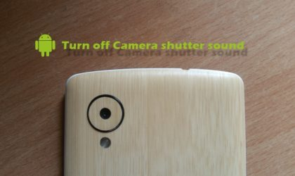 How to turn off camera shutter sound on Android