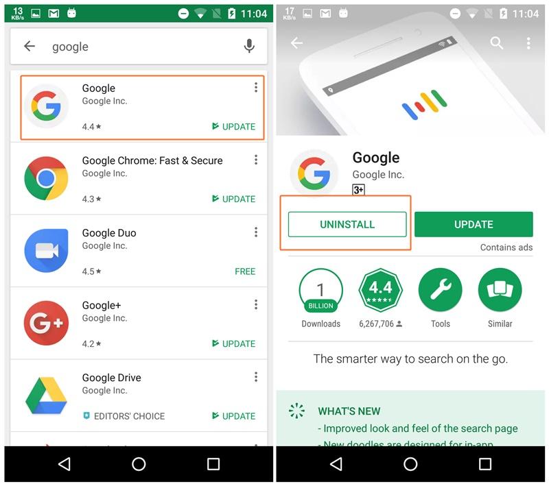 uninstall-google-app-android