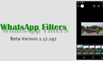 WhatsApp beta update brings photo filters