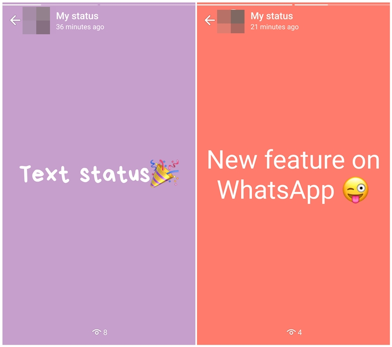 Colorful Whatsapp Text Only Status Feature Is Now Live